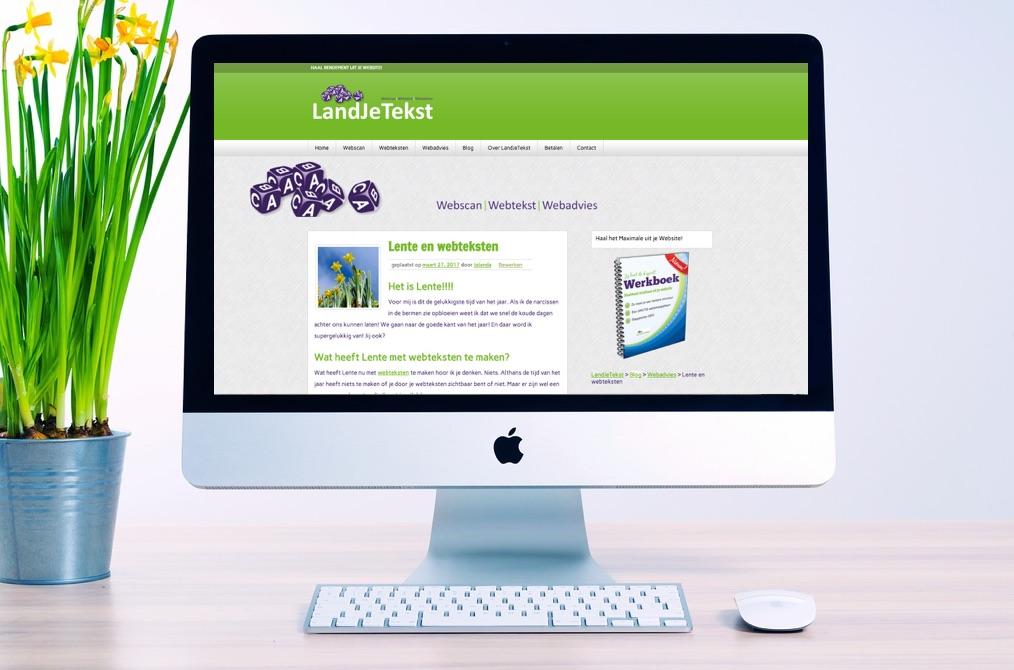 Lente en webteksten